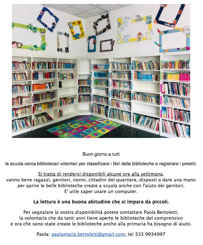annuncio per biblioteca