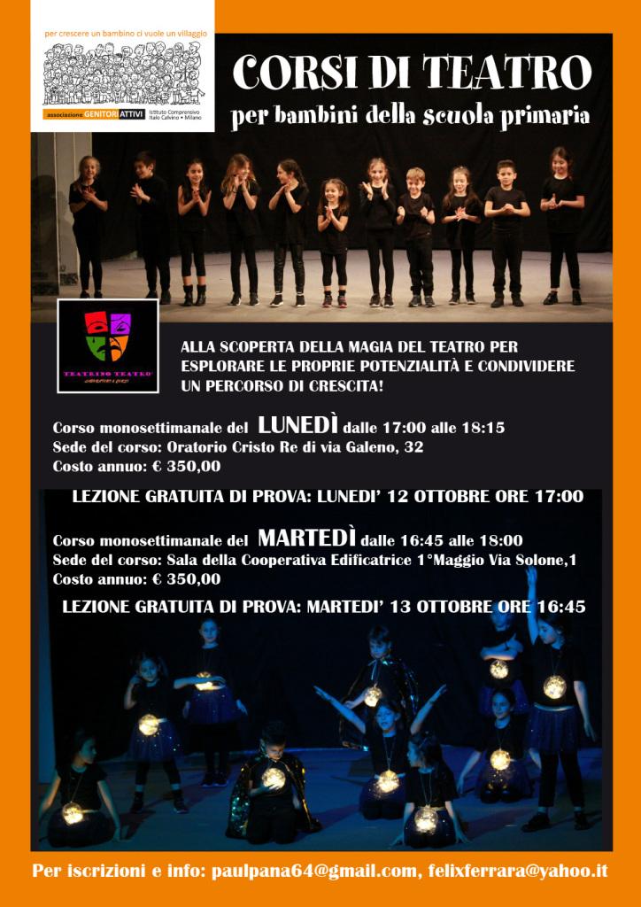locandina teatro primaria 2020-21