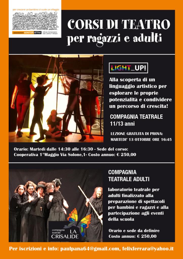 locandina teatro secondaria+adulti 2020-21