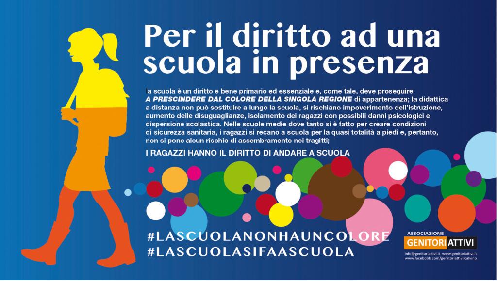 striscione#LASCUOLANONHAUNCOLORE